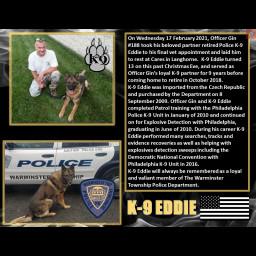 K-9 Eddie Warminster Township Police Department K9